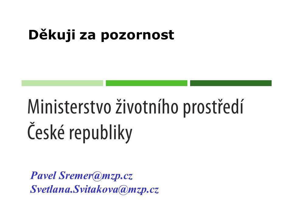 Děkuji za pozornost Pavel Sremer@mzp.cz Svetlana.Svitakova@mzp.cz