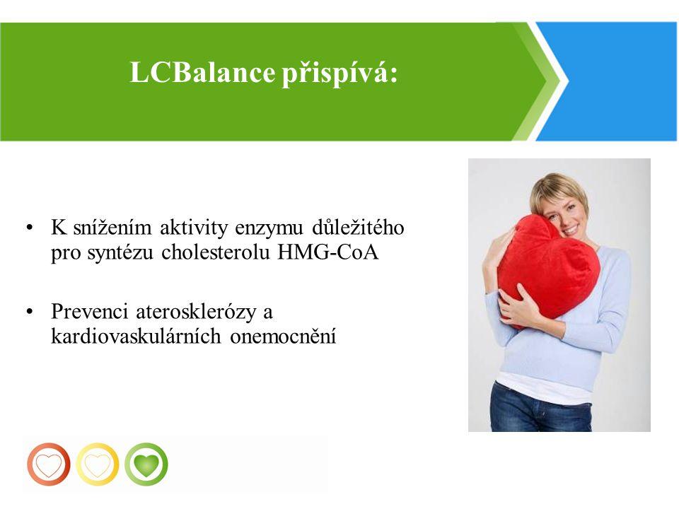 31 K snížením aktivity enzymu důležitého pro syntézu cholesterolu HMG-CoA Prevenci aterosklerózy a kardiovaskulárních onemocnění LСBalance přispívá: