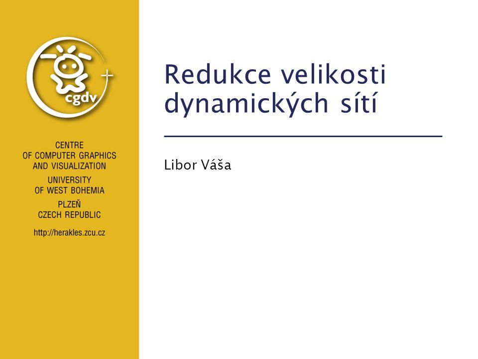CPG projekt - Plzeň4/55 Obsah Úvod –definice –problém State of the art –komprese –simplifikace Vyhlídky –vylepšená Clustered PCA –4D metrika