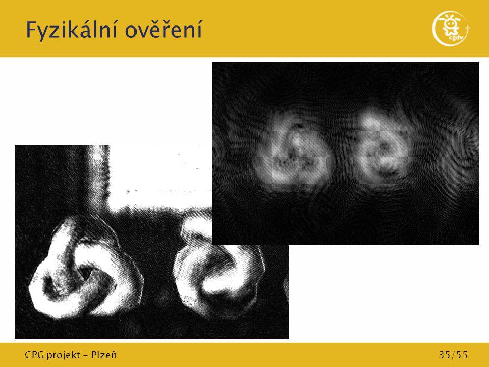 CPG projekt - Plzeň35/55 Fyzikální ověření