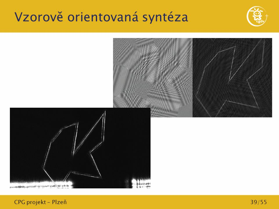 CPG projekt - Plzeň39/55 Vzorově orientovaná syntéza
