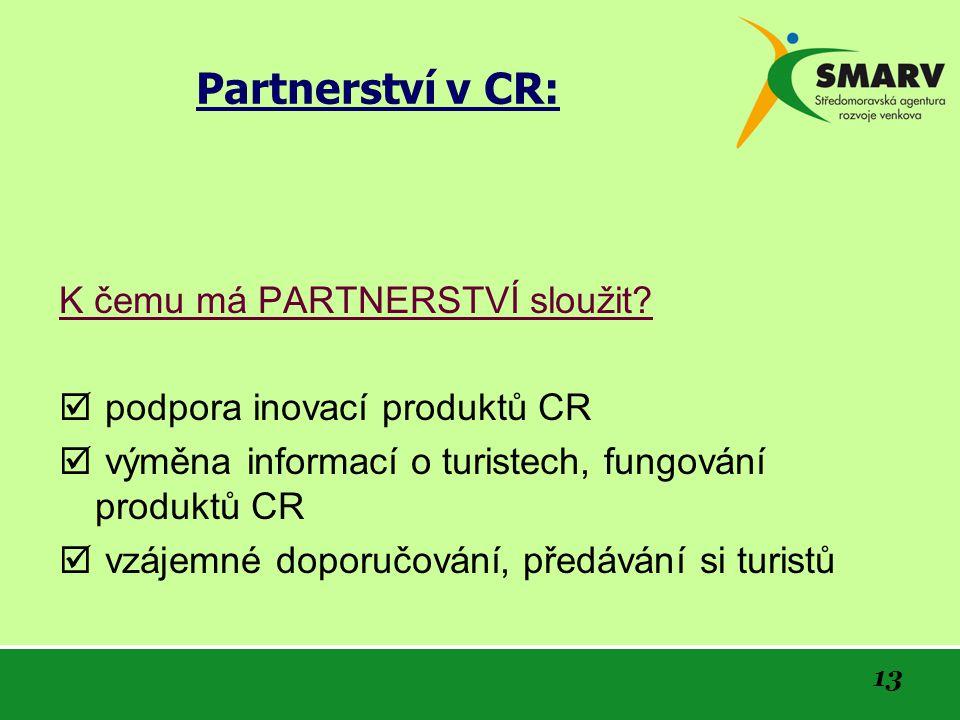 13 Partnerství v CR: K čemu má PARTNERSTVÍ sloužit.
