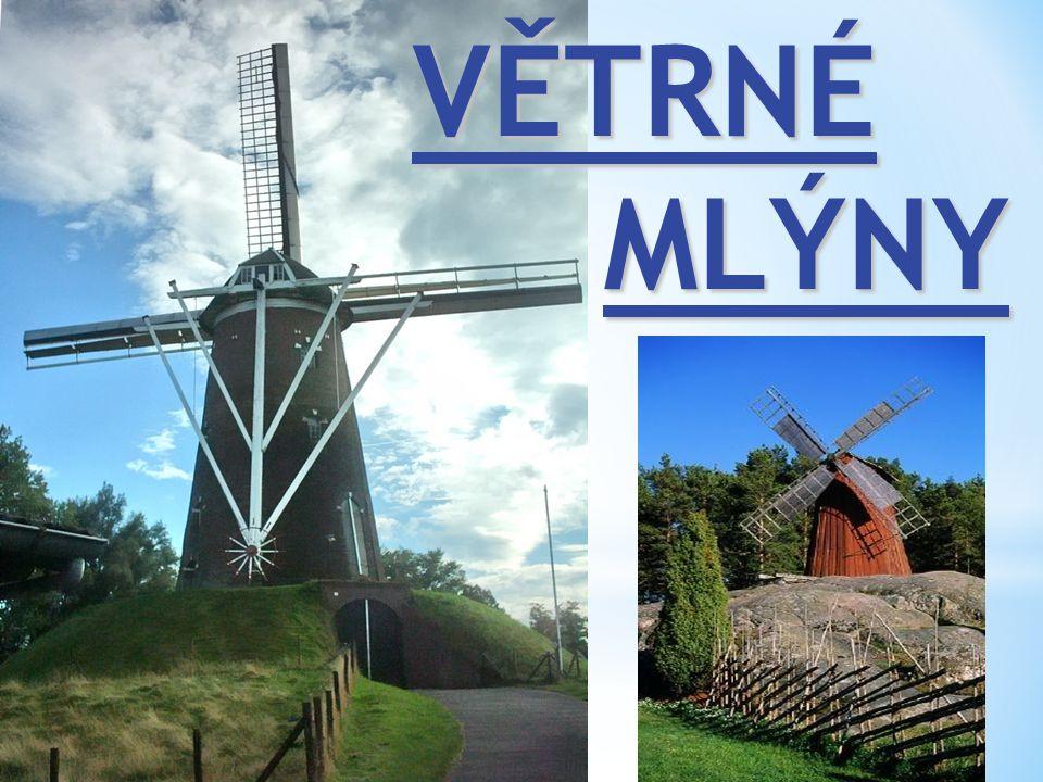 Součástí romantického Holandska jsou větrné mlýny.