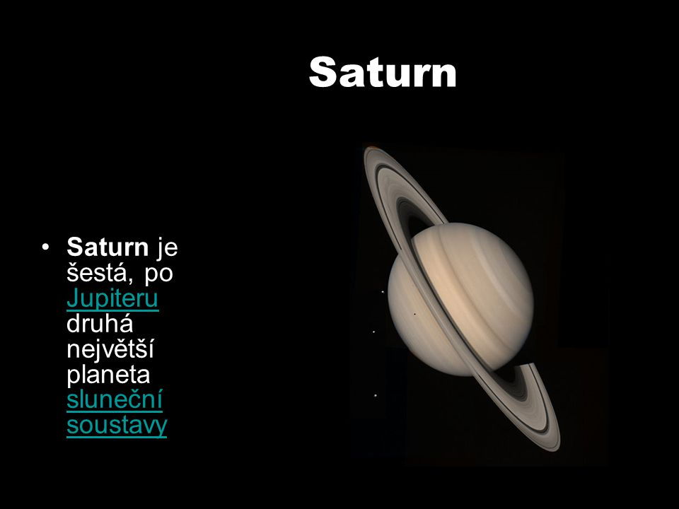 Uran Uran je sedmá planeta od Slunce planeta Slunce