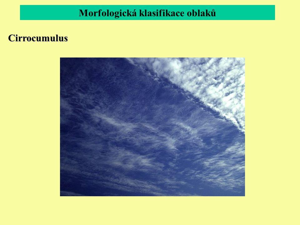 Morfologická klasifikace oblaků Cirrocumulus