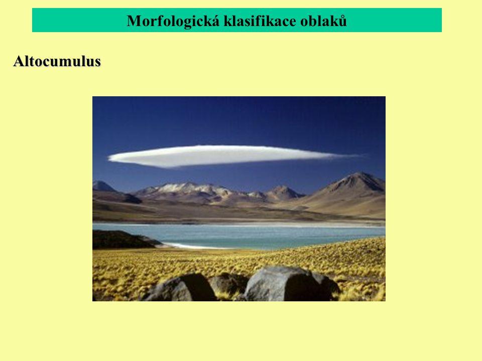 Morfologická klasifikace oblaků Altocumulus