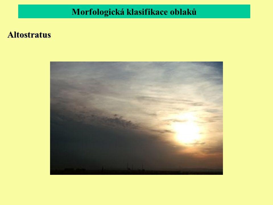 Morfologická klasifikace oblaků Altostratus