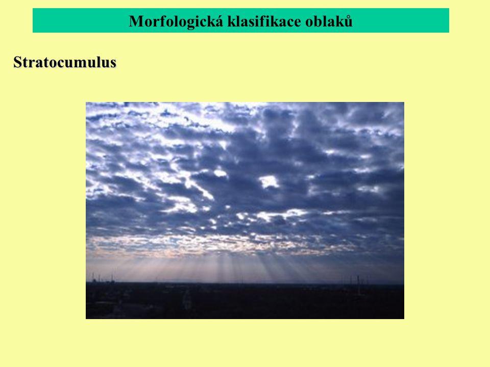 Morfologická klasifikace oblaků Stratocumulus