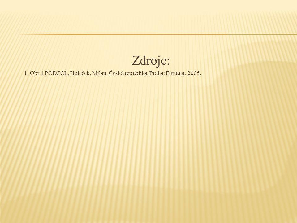 Zdroje: 1. Obr.1 PODZOL, Holeček, Milan. Česká republika. Praha: Fortuna, 2005.