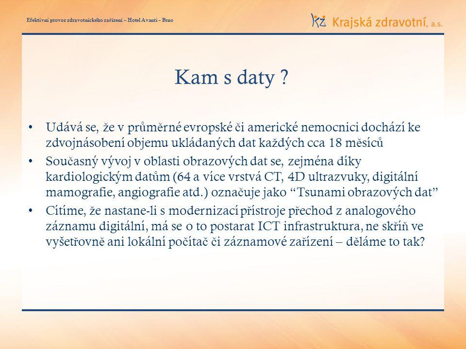 Efektivní provoz zdravotnického za ř ízení – Hotel Avanti – Brno Kam s daty .