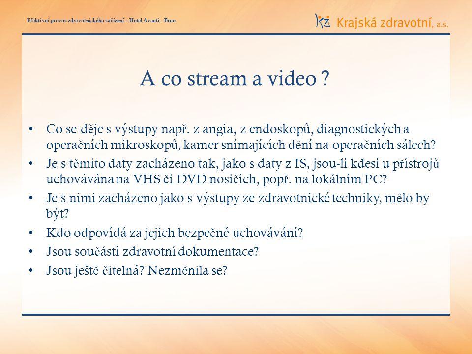 Efektivní provoz zdravotnického za ř ízení – Hotel Avanti – Brno A co stream a video .