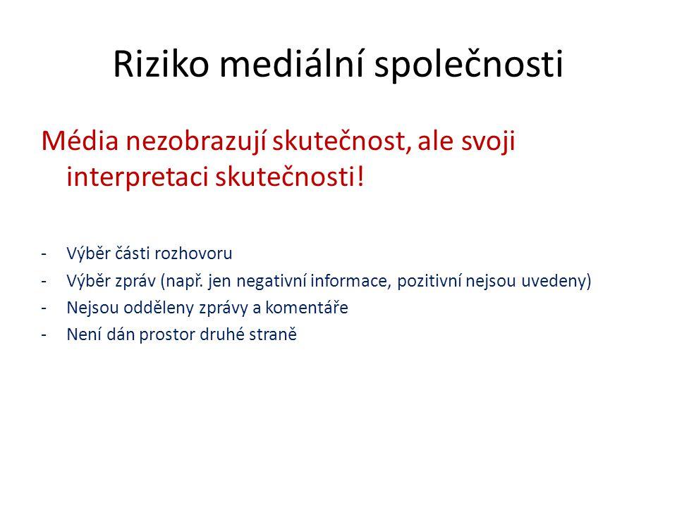 Reklama Zákon o regulaci reklamy Informace jsou cílené Manipulace – příklady Rada pro reklamu: www.rpr.czwww.rpr.cz www.spotrebitel.cz