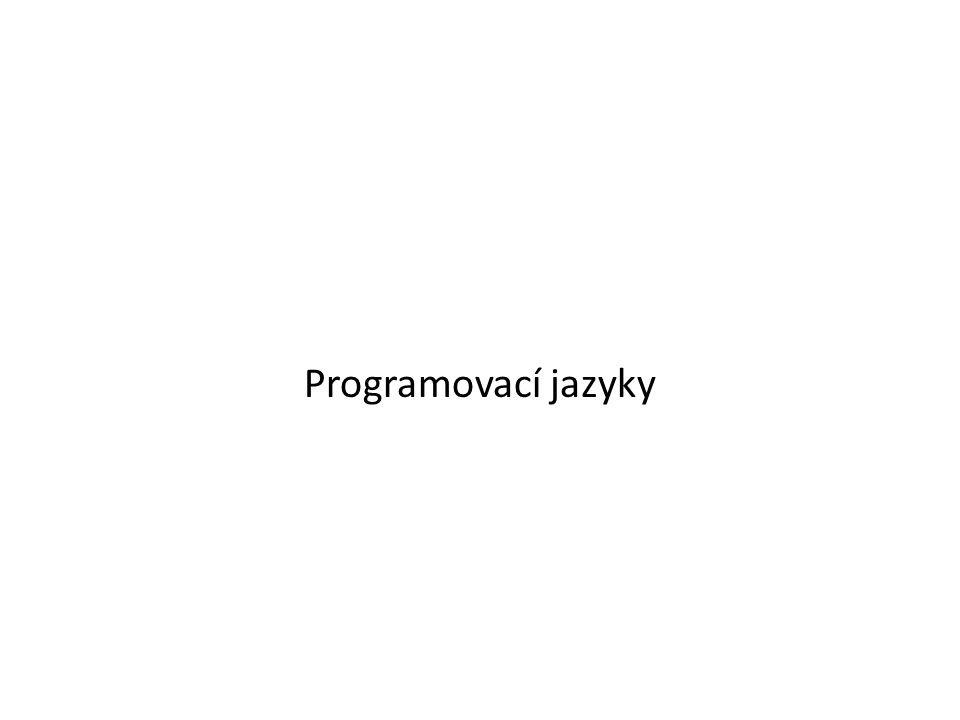 Programovací jazyky