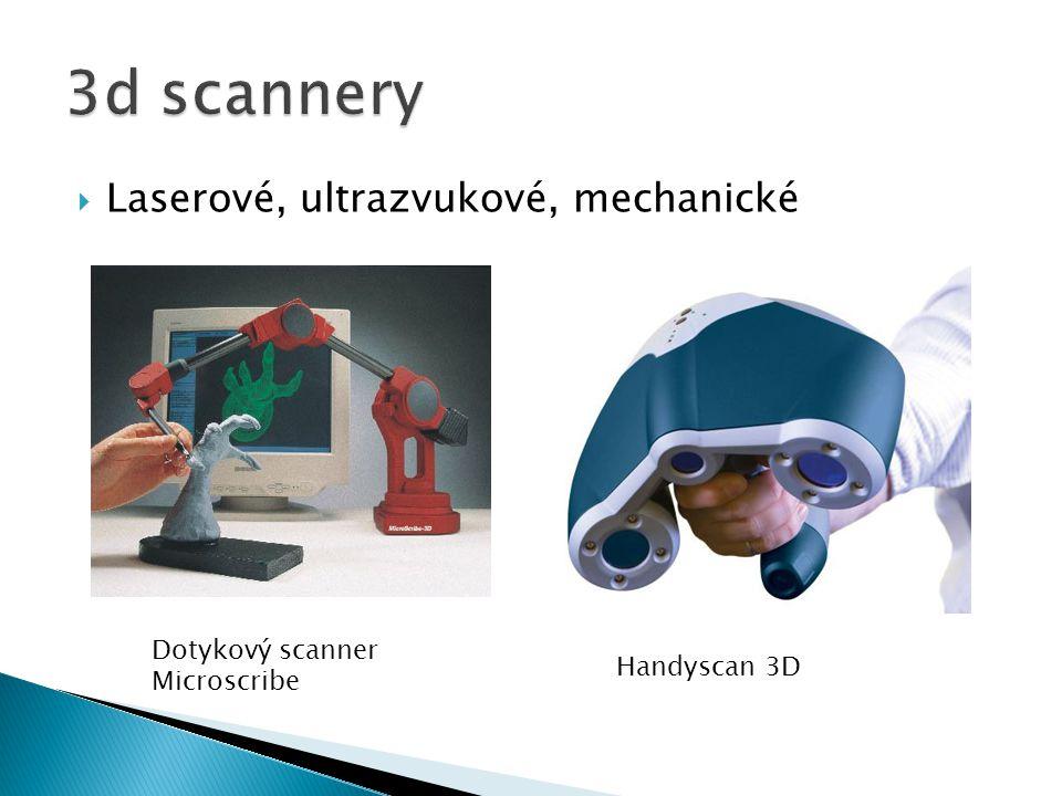  Laserové, ultrazvukové, mechanické Dotykový scanner Microscribe Handyscan 3D