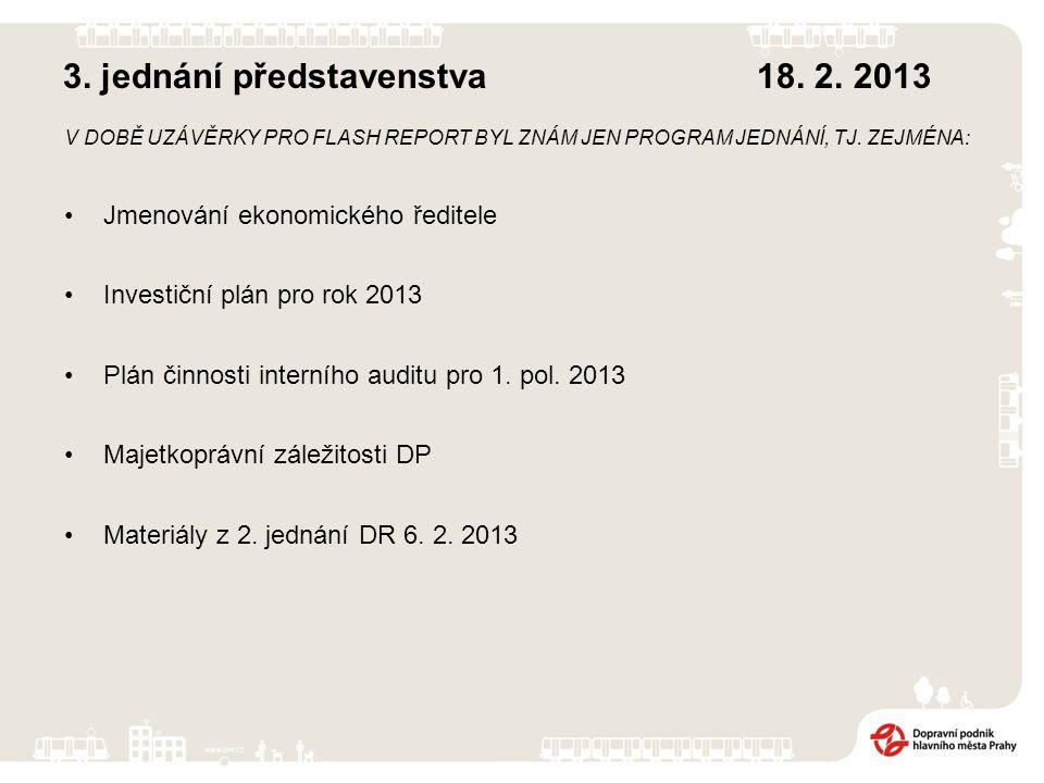 3. jednání představenstva 18. 2.