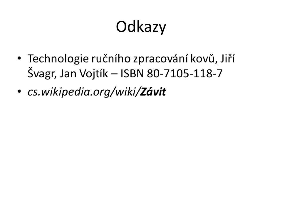 Odkazy Technologie ručního zpracování kovů, Jiří Švagr, Jan Vojtík – ISBN 80-7105-118-7 cs.wikipedia.org/wiki/Závit