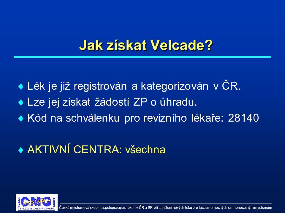 Česká myelomová skupina spolupracuje s lékaři v ČR a SR při zajištění nových léků pro léčbu nemocných s mnohočetným myelomem Děkujeme, že využíváte našich informačních služeb pro své nemocné