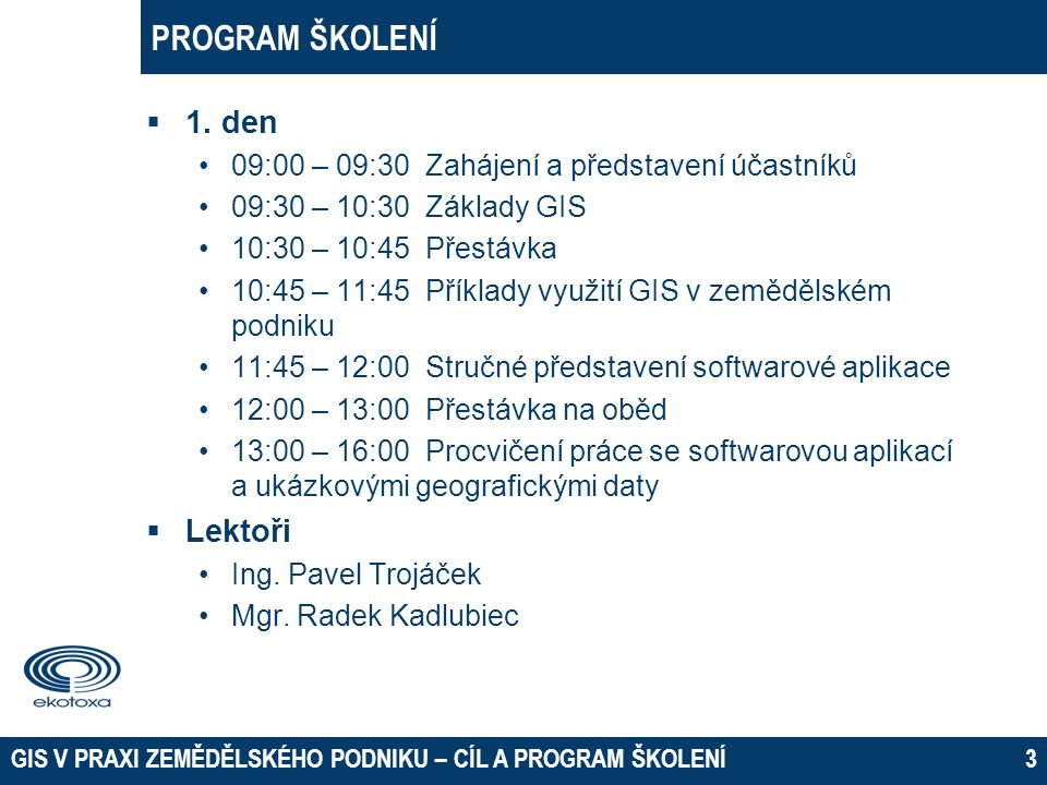 PROGRAM ŠKOLENÍ  2.