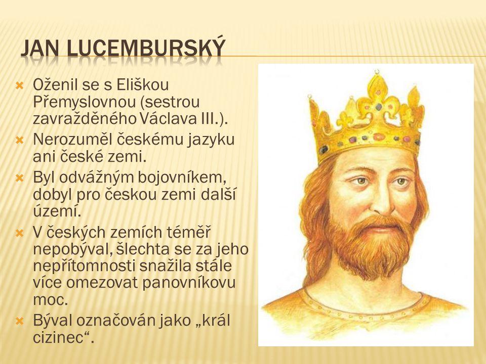  Oženil se s Eliškou Přemyslovnou (sestrou zavražděného Václava III.).