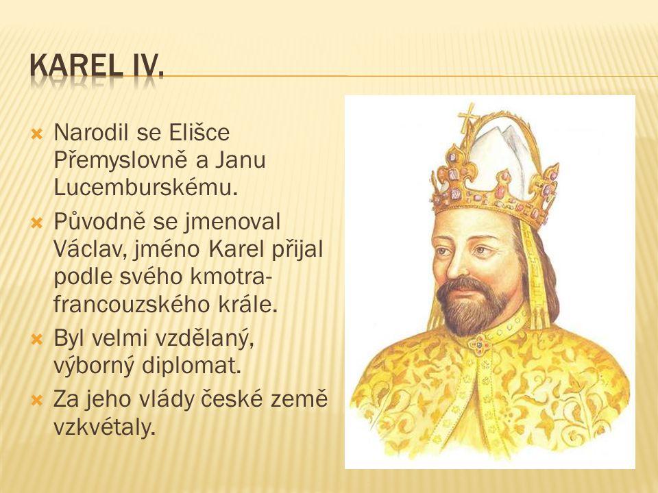  Narodil se Elišce Přemyslovně a Janu Lucemburskému.