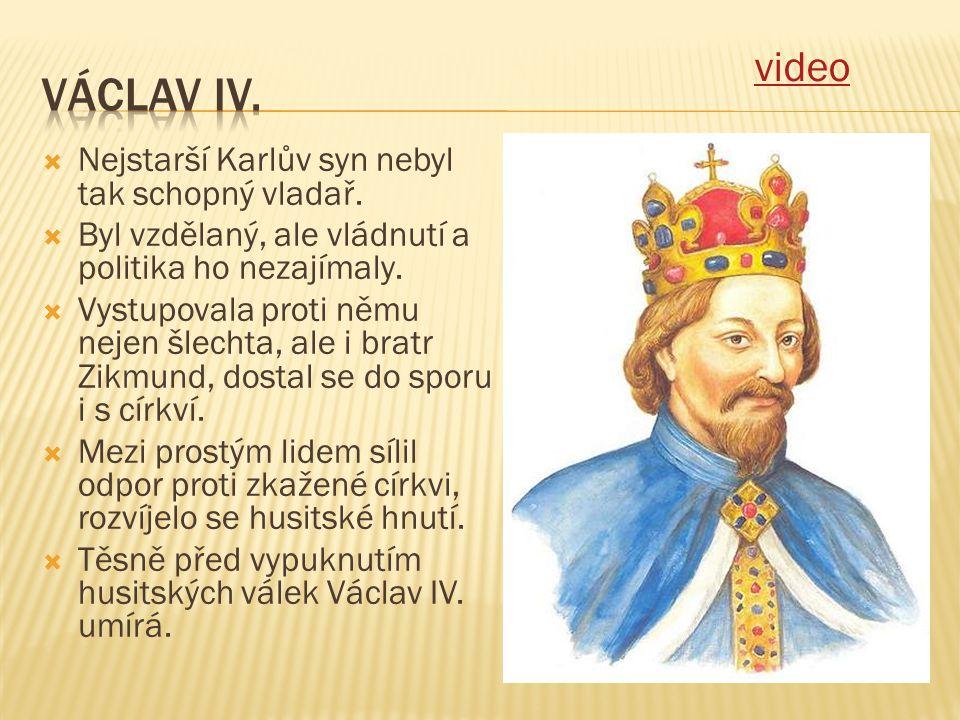  Nejstarší Karlův syn nebyl tak schopný vladař.