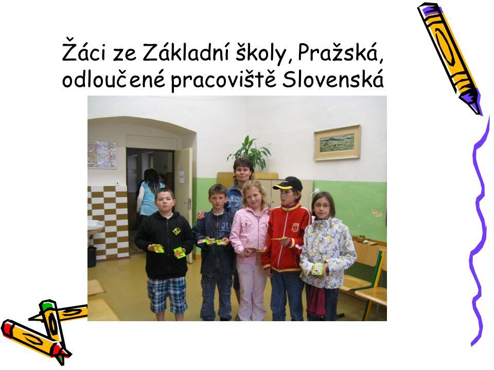 Žáci ze Základní školy, Pražská, odloučené pracoviště Slovenská