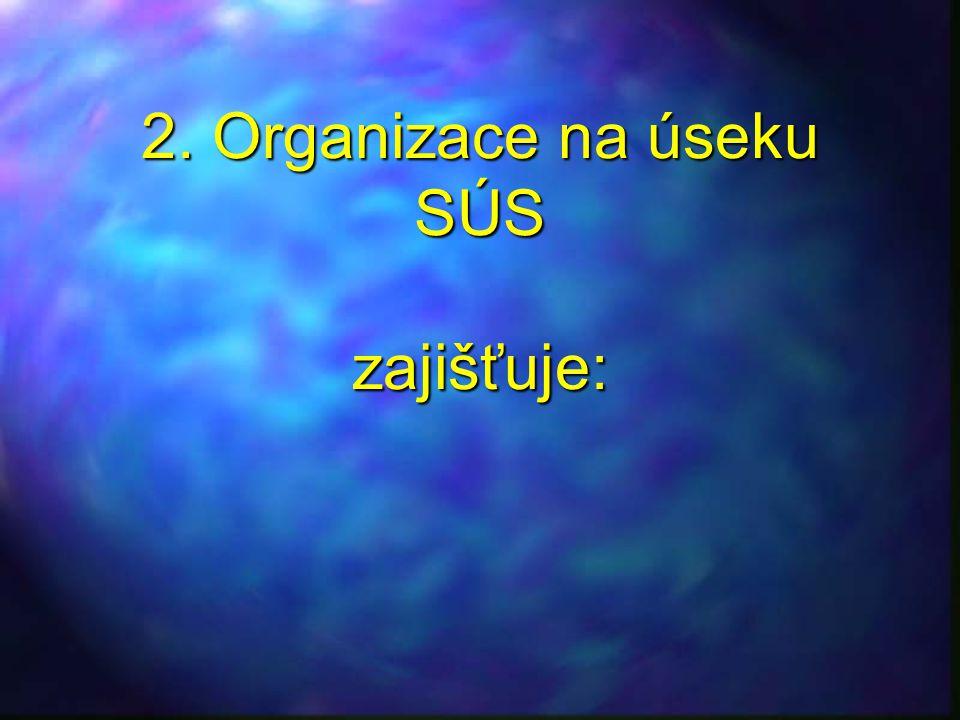 2. Organizace na úseku SÚS zajišťuje:
