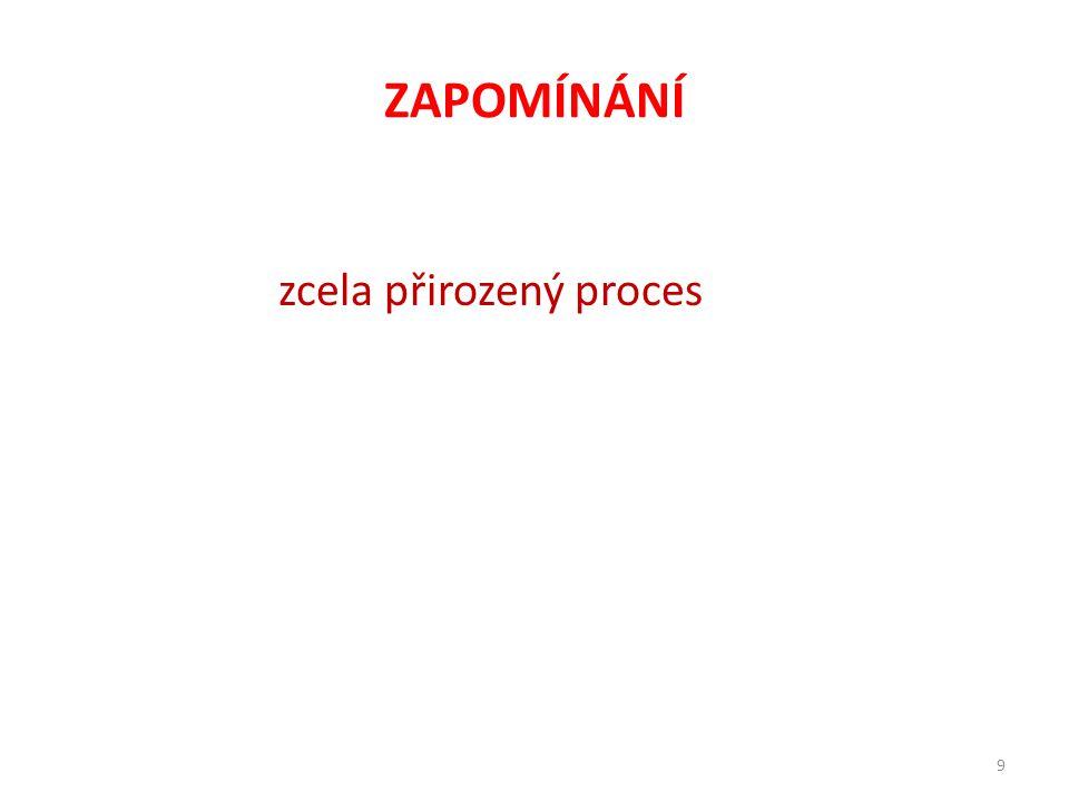 ZAPOMÍNÁNÍ zcela přirozený proces 9