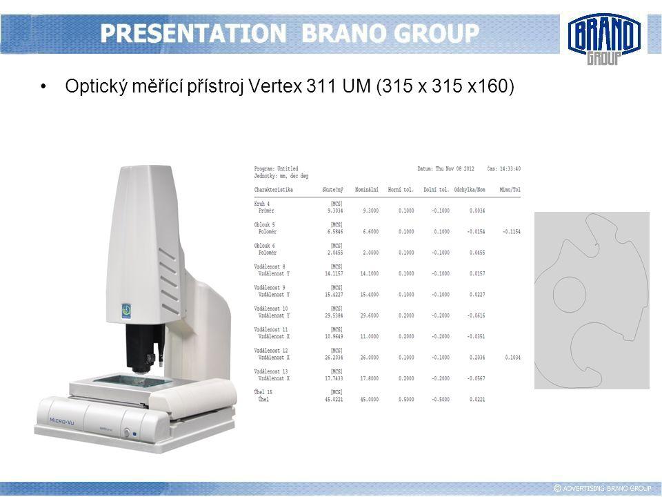 Optický měřící přístroj Vertex 311 UM (315 x 315 x160)