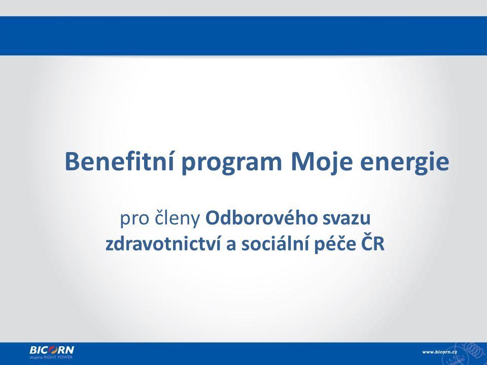 Benefitní program Moje energie pro členy Odborového svazu zdravotnictví a sociální péče ČR