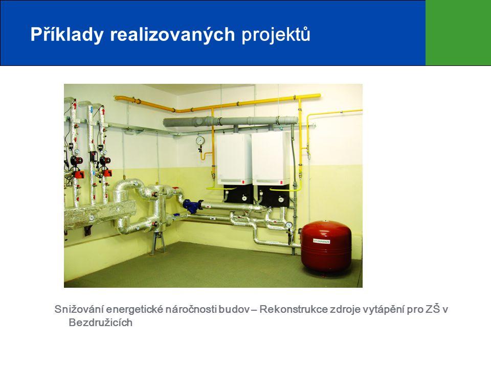 Snižování energetické náročnosti budov – Rekonstrukce zdroje vytápění pro ZŠ v Bezdružicích Příklady realizovaných projektů