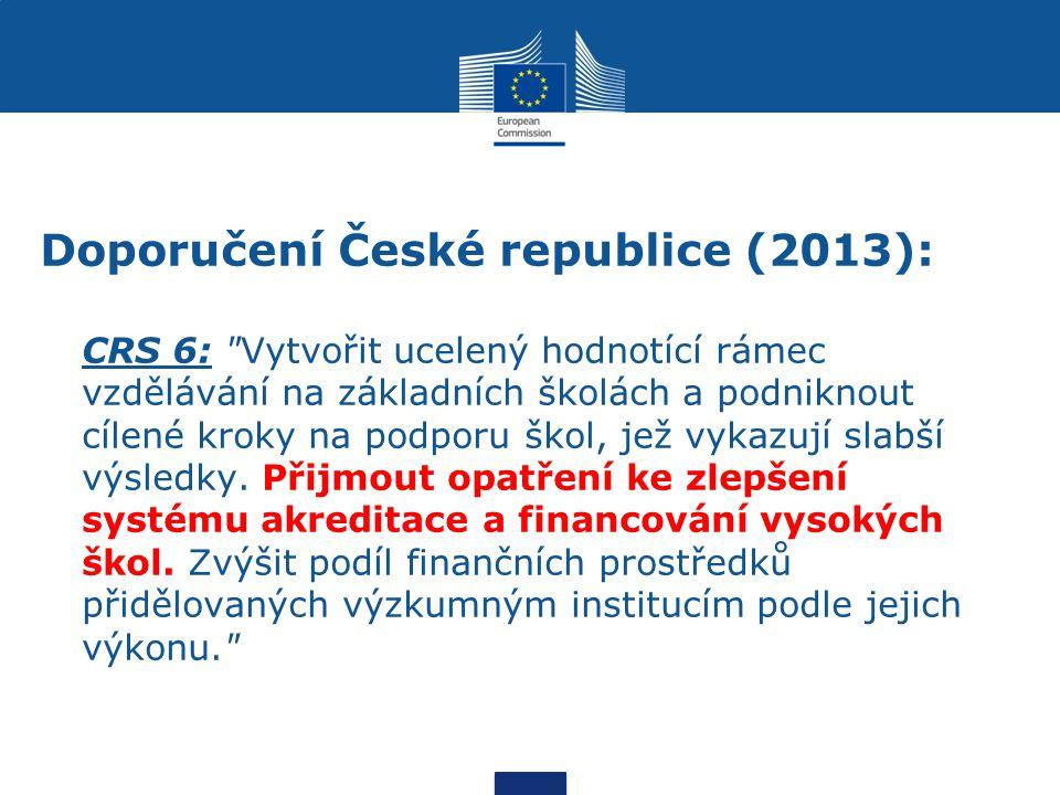 Doporučení České republice (2013): CRS 6: