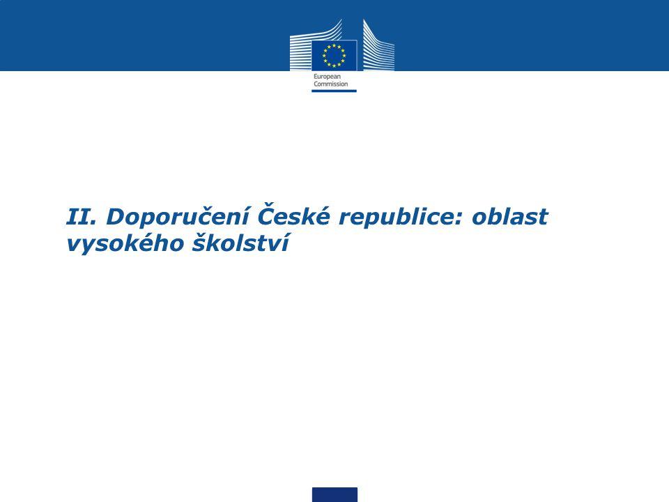 II. Doporučení České republice: oblast vysokého školství