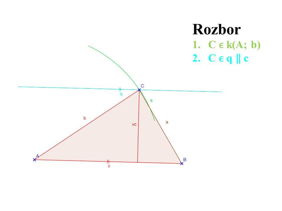 Rozbor 1.C k(A; b) 2.C q ‖ c