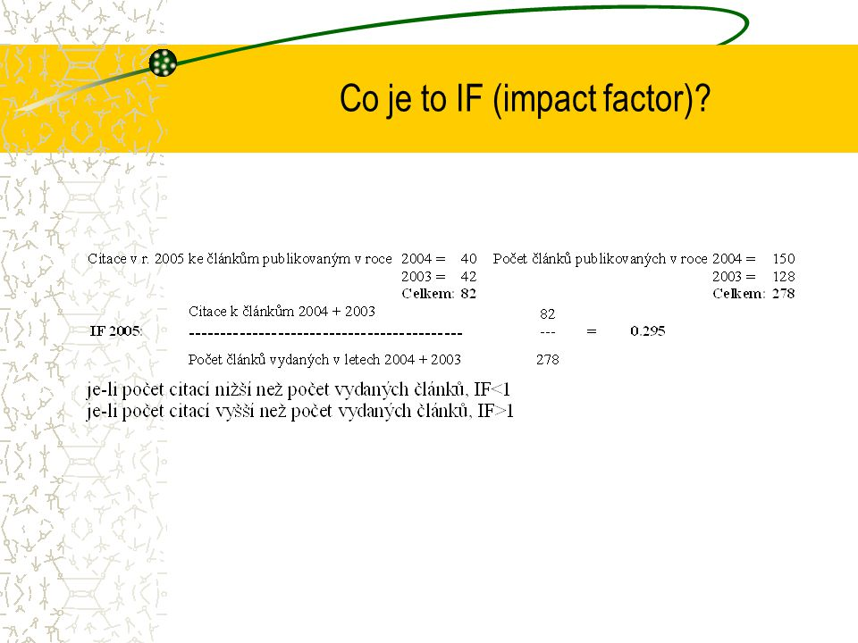 Co je to IF (impact factor)