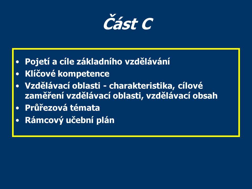 Část C - Pojetí a cíle Kapitola vymezující pojetí základního vzdělávání na 1.