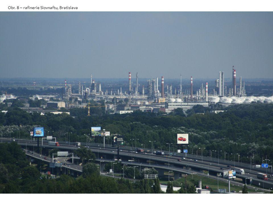 Obr. 8 – rafinerie Slovnaftu, Bratislava