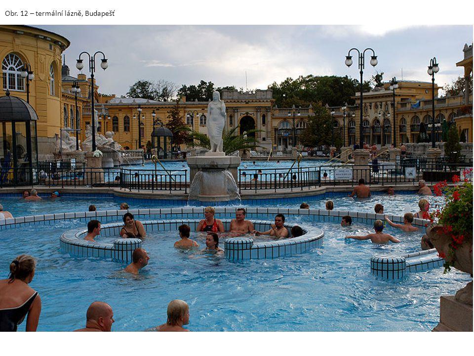 Obr. 12 – termální lázně, Budapešť