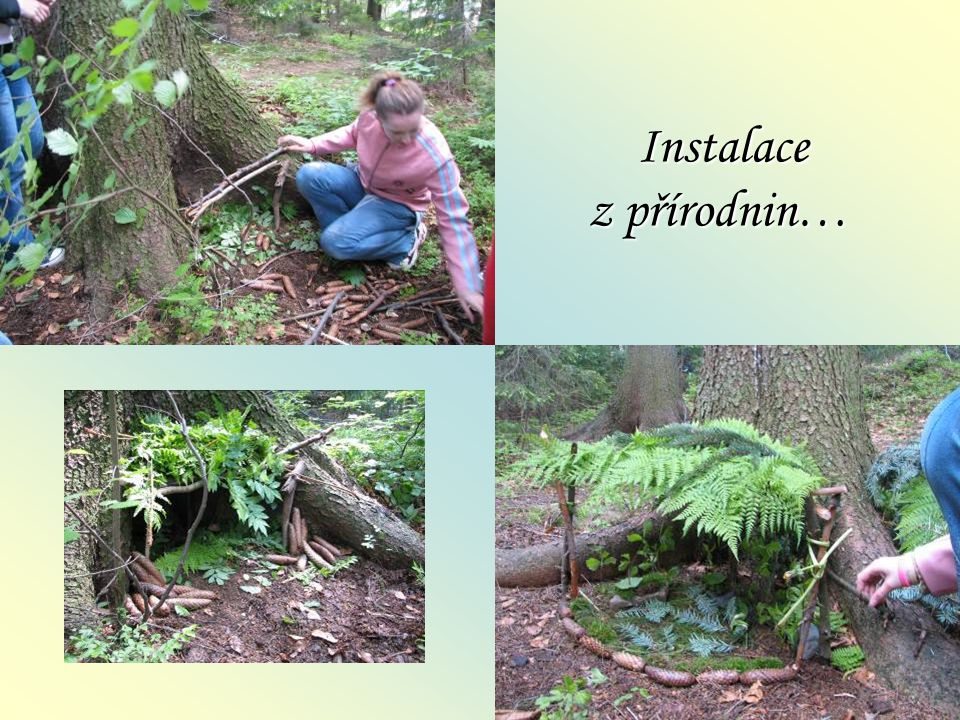 Instalace z přírodnin… Instalace z přírodnin…