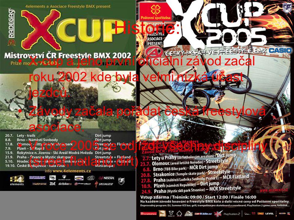 Historie: X-cup a jeho první oficiální závod začal roku 2002 kde byla velmi nízká účast jezdců.