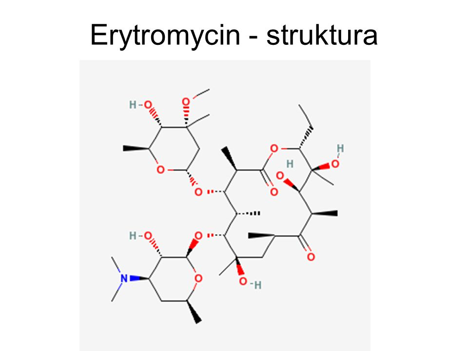 Erytromycin - struktura