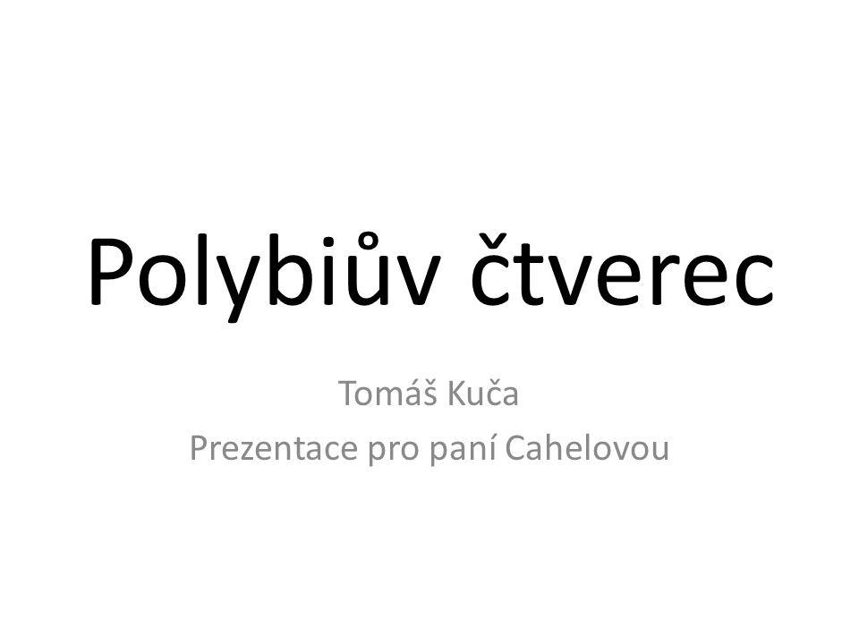 Polybiův čtverec Tomáš Kuča Prezentace pro paní Cahelovou