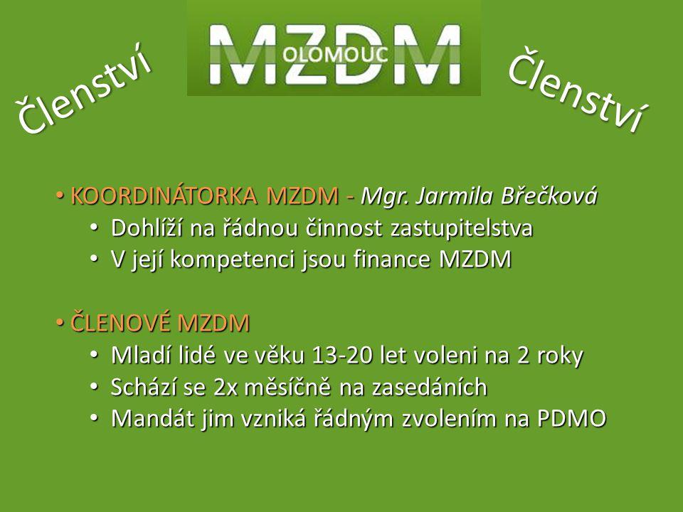 Členství Členství KOORDINÁTORKA MZDM - Mgr.Jarmila Břečková KOORDINÁTORKA MZDM - Mgr.
