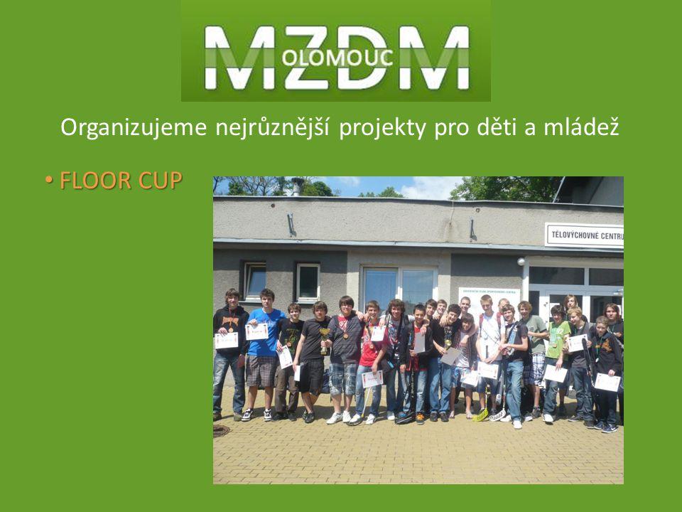 Organizujeme nejrůznější projekty pro děti a mládež FLOOR CUP FLOOR CUP