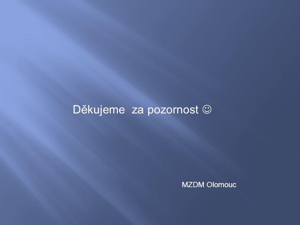 Děkujeme za pozornost MZDM Olomouc