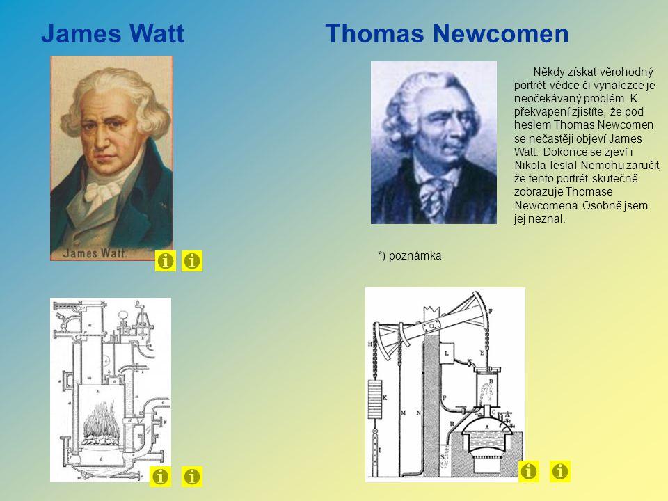 James WattThomas Newcomen Někdy získat věrohodný portrét vědce či vynálezce je neočekávaný problém. K překvapení zjistíte, že pod heslem Thomas Newcom