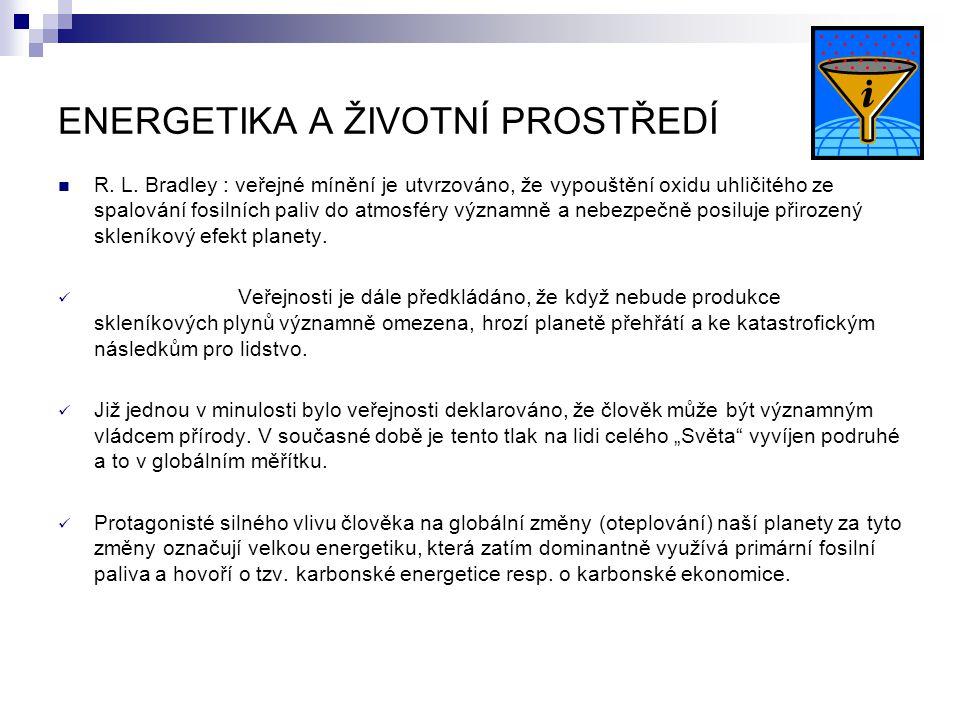 ENERGETIKA A ŽIVOTNÍ PROSTŘEDÍ R. L.