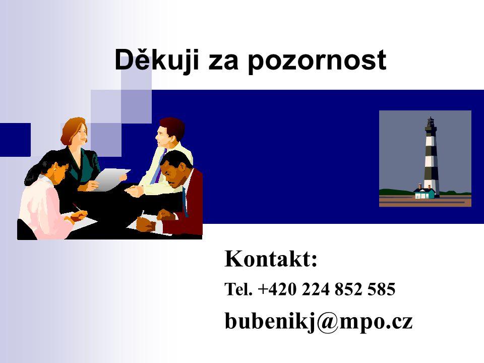 Děkuji za pozornost Kontakt: Tel. +420 224 852 585 bubenikj@mpo.cz