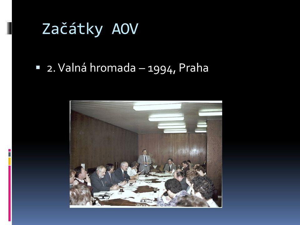 Začátky AOV  2. Valná hromada – 1994, Praha
