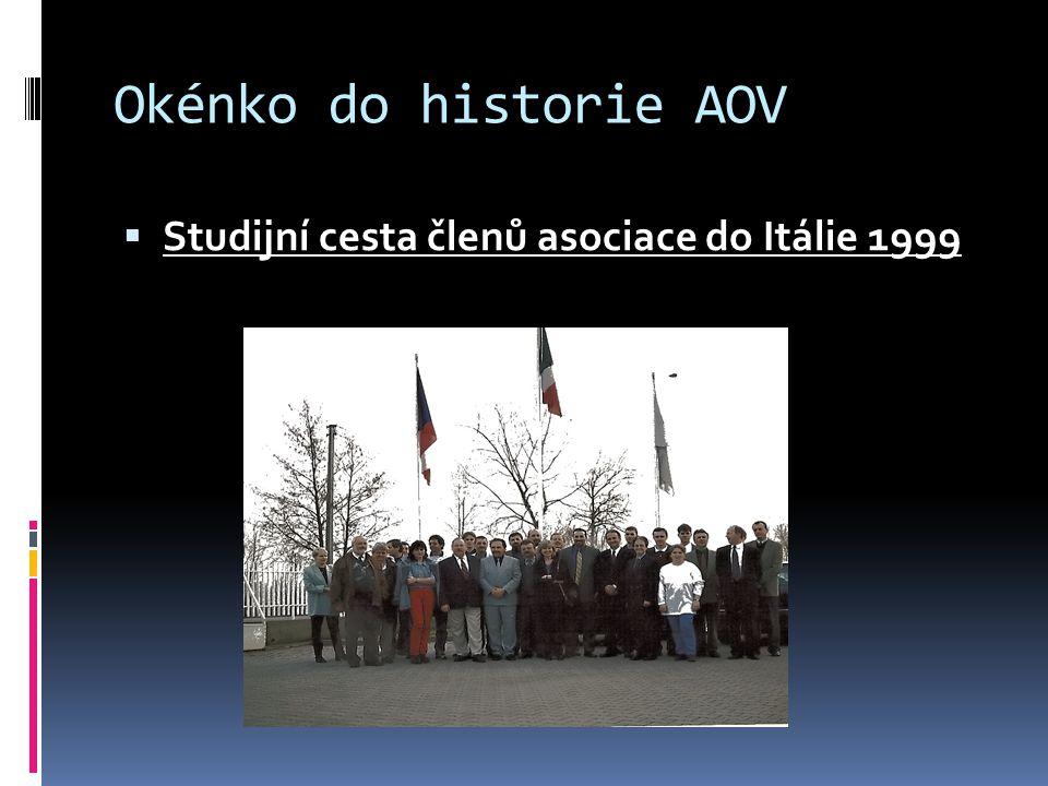 Okénko do historie AOV  Studijní cesta členů asociace do Itálie 1999